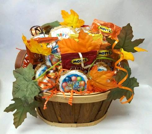 Fall Birthday Cookie Basket