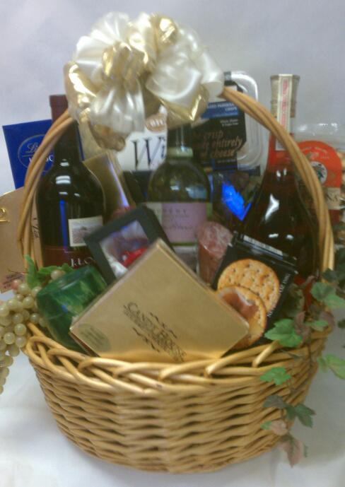 Gourmet Wine Birthday Basket