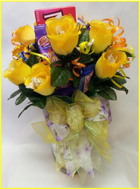 Yellow Roses-n-Chocolate Bouquet